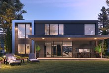 Architectural House Design - Contemporary Exterior - Rear Elevation Plan #1066-102
