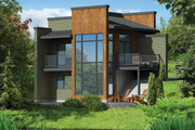 Contemporary Style House Plan - 2 Beds 1 Baths 1156 Sq/Ft Plan #25-4585 Exterior - Front Elevation