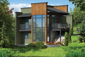 Contemporary Exterior - Front Elevation Plan #25-4585