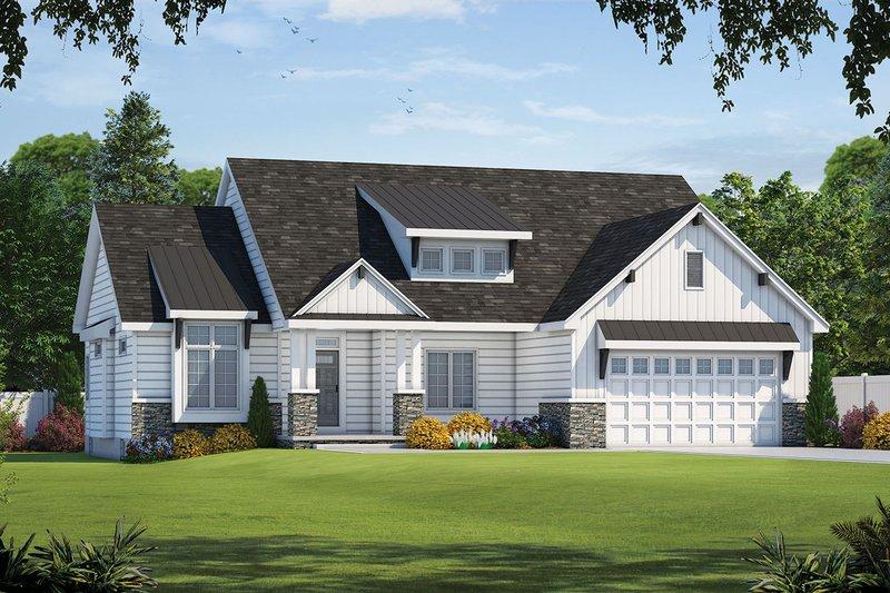 Architectural House Design - Craftsman Exterior - Front Elevation Plan #20-2329