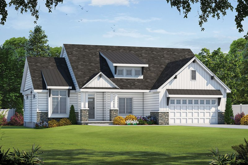 Dream House Plan - Craftsman Exterior - Front Elevation Plan #20-2329