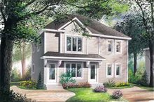 Southern Exterior - Front Elevation Plan #23-508