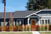 Craftsman Style House Plan - 3 Beds 2 Baths 1359 Sq/Ft Plan #434-23 Exterior - Front Elevation