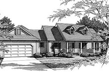 Country Exterior - Front Elevation Plan #14-121