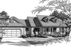 House Plan Design - Country Exterior - Front Elevation Plan #14-121