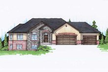 Traditional Exterior - Front Elevation Plan #5-254