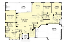 Contemporary Floor Plan - Main Floor Plan Plan #930-504