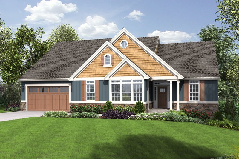 House Plan Design - Craftsman Exterior - Front Elevation Plan #48-670