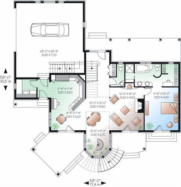 Victorian Floor Plan - Main Floor Plan Plan #23-725