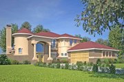Mediterranean Style House Plan - 5 Beds 3 Baths 3067 Sq/Ft Plan #80-184 Exterior - Front Elevation
