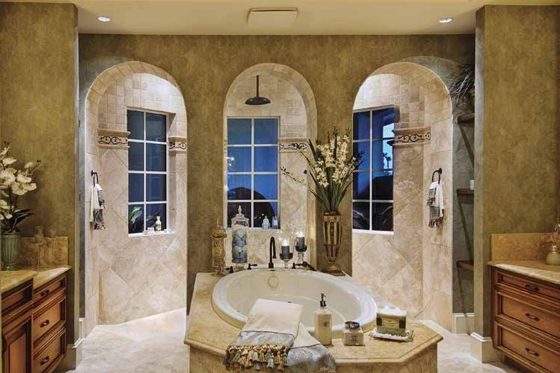 Mediterranean Interior - Master Bathroom Plan #930-421 - Houseplans.com