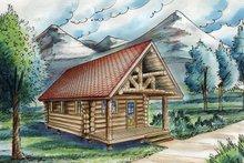 House Design - Log Exterior - Front Elevation Plan #117-828