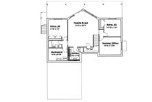 Ranch Floor Plan - Lower Floor Plan Plan #117-833