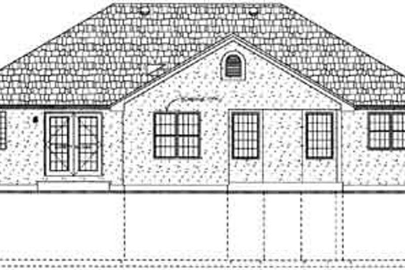 Exterior - Rear Elevation Plan #126-129 - Houseplans.com