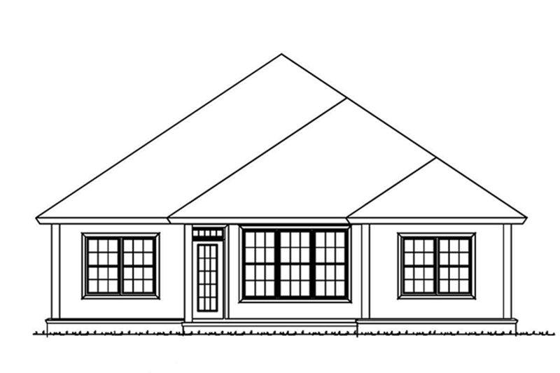 Country Exterior - Rear Elevation Plan #513-2166 - Houseplans.com