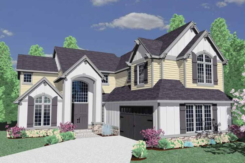 Traditional Exterior - Front Elevation Plan #509-356 - Houseplans.com