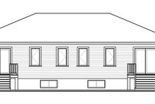 Contemporary Exterior - Rear Elevation Plan #23-2593