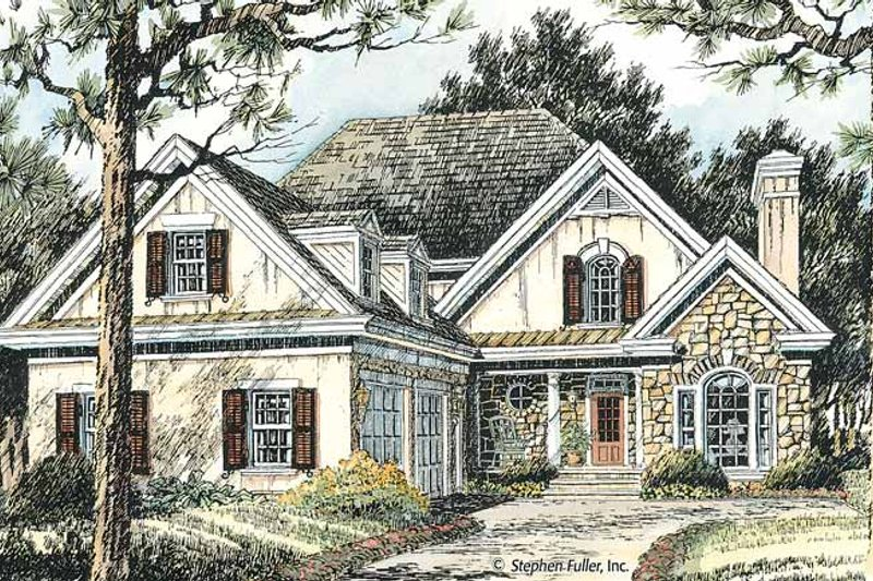 Country Exterior - Front Elevation Plan #429-370 - Houseplans.com
