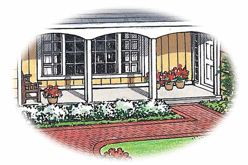 Ranch Exterior - Front Elevation Plan #1040-26 - Houseplans.com
