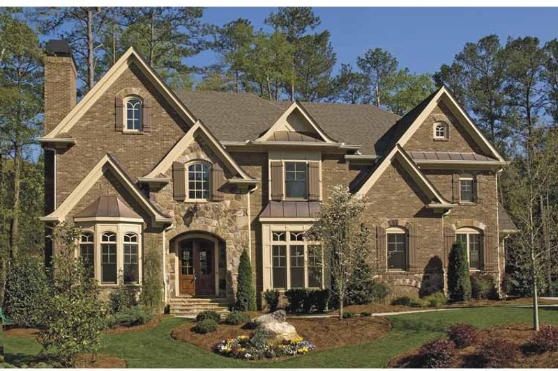 Traditional Exterior - Front Elevation Plan #54-329 - Houseplans.com