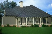 Cottage Style House Plan - 3 Beds 2 Baths 1565 Sq/Ft Plan #45-582 Exterior - Rear Elevation