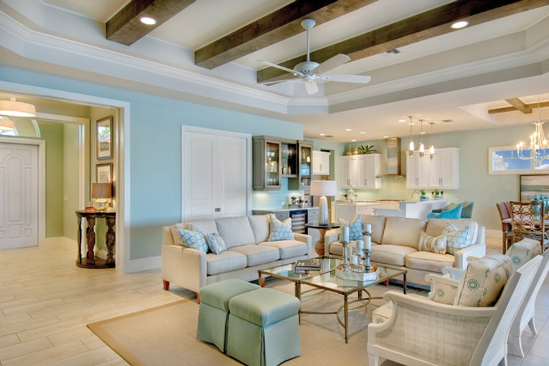Mediterranean Interior - Family Room Plan #930-448 - Houseplans.com