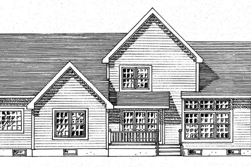 Traditional Exterior - Rear Elevation Plan #316-292 - Houseplans.com