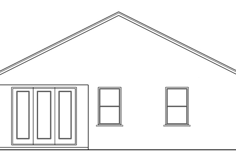 Colonial Exterior - Rear Elevation Plan #1058-99 - Houseplans.com