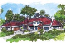 Dream House Plan - Mediterranean Exterior - Front Elevation Plan #320-640