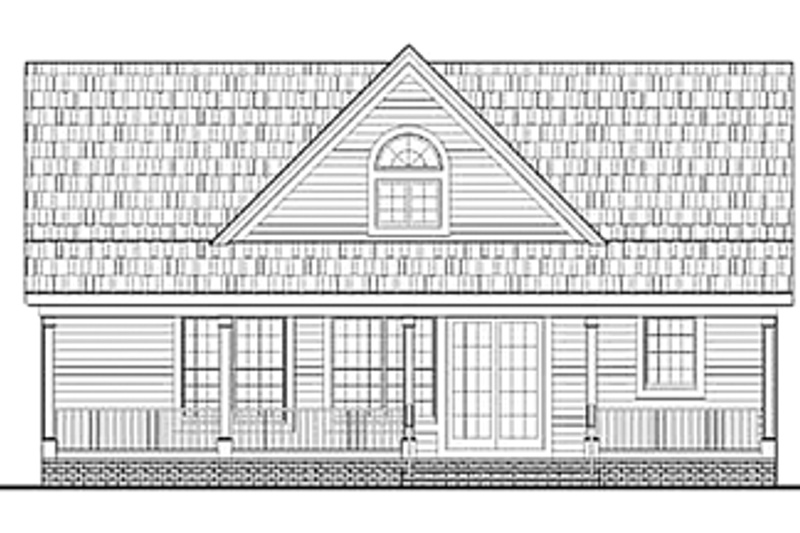 Country Exterior - Rear Elevation Plan #314-273 - Houseplans.com