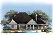 Country Style House Plan - 4 Beds 3 Baths 2578 Sq/Ft Plan #929-969 Exterior - Rear Elevation