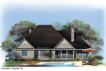 Dream House Plan - Country Exterior - Rear Elevation Plan #929-969