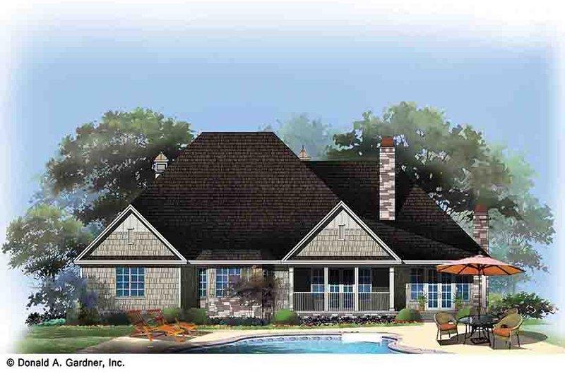 Country Exterior - Rear Elevation Plan #929-969 - Houseplans.com