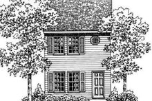 Colonial Exterior - Front Elevation Plan #72-475