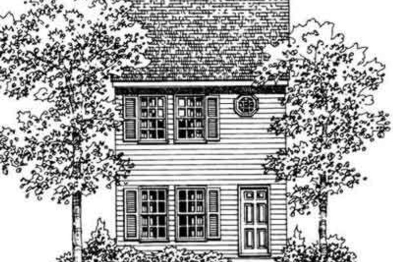 House Blueprint - Colonial Exterior - Front Elevation Plan #72-475