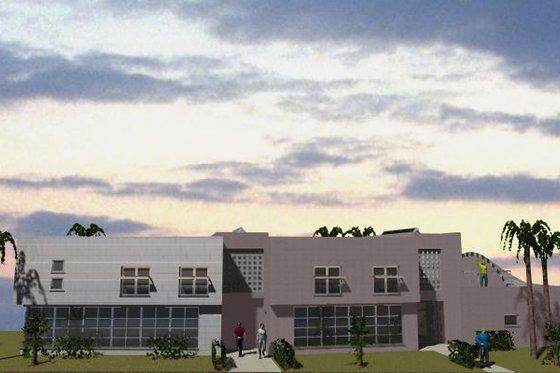 Modern Exterior - Front Elevation Plan #535-1