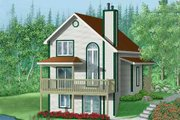 Traditional Style House Plan - 3 Beds 2.5 Baths 1862 Sq/Ft Plan #25-4255 Exterior - Front Elevation