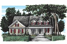 Country Exterior - Front Elevation Plan #927-279
