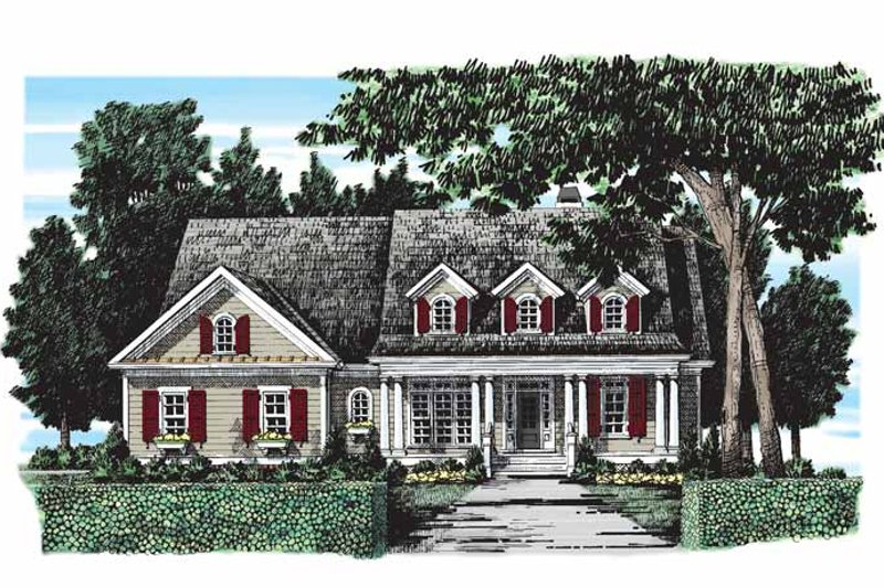 Country Exterior - Front Elevation Plan #927-279 - Houseplans.com