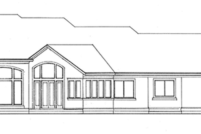 European Exterior - Rear Elevation Plan #966-76 - Houseplans.com