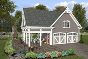 Farmhouse Style House Plan - 1 Beds 1 Baths 792 Sq/Ft Plan #56-575 Exterior - Other Elevation