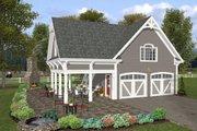 Farmhouse Style House Plan - 1 Beds 1 Baths 792 Sq/Ft Plan #56-575