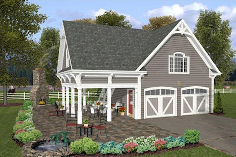Farmhouse Exterior - Other Elevation Plan #56-575 - Houseplans.com