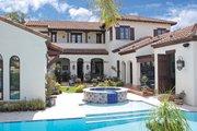 Mediterranean Style House Plan - 6 Beds 4.5 Baths 4463 Sq/Ft Plan #1058-13 Exterior - Rear Elevation