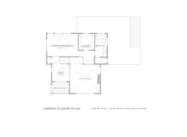 Modern Floor Plan - Upper Floor Plan Plan #909-10