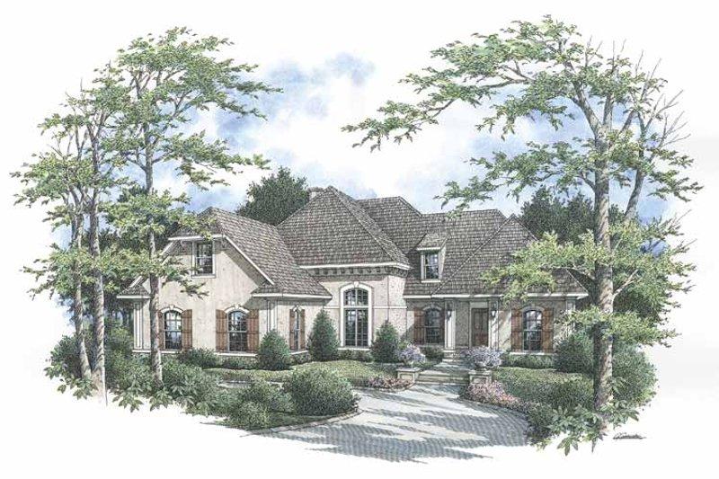 Dream House Plan - Mediterranean Exterior - Front Elevation Plan #45-423