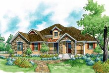 Country Exterior - Front Elevation Plan #930-186