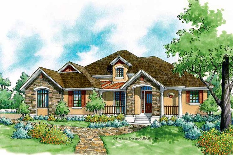 Architectural House Design - Country Exterior - Front Elevation Plan #930-186