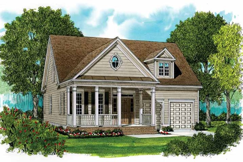 Country Exterior - Front Elevation Plan #413-898
