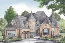 House Plan Design - European Exterior - Front Elevation Plan #453-580